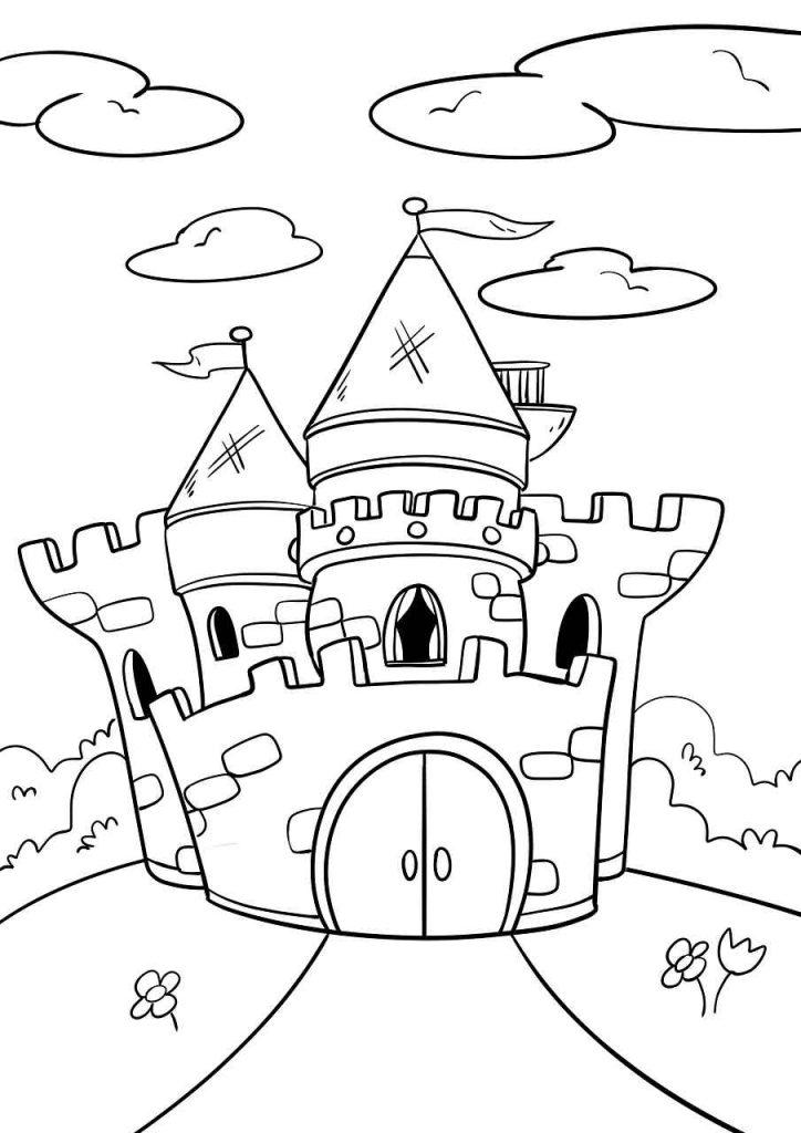 דף צביעה ארמון של נסיכה