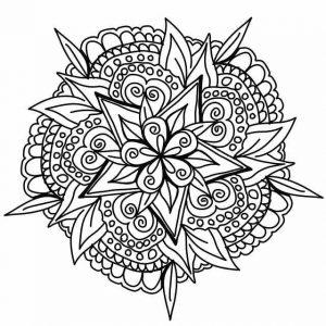 דף צביעה מנדלה פרח