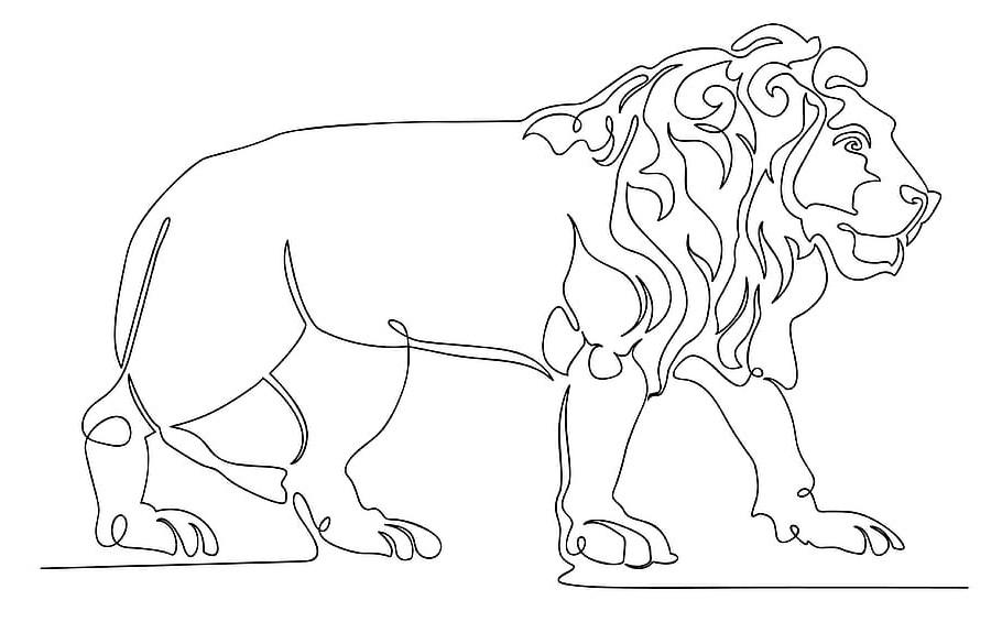 ציור להדפסה אריה