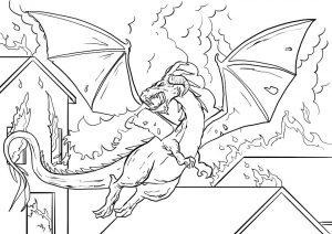 ציור להדפסה דרקון