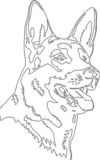 ציור להדפסה כלב גדול
