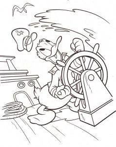 ציור להדפסה קפטן דונלד דק