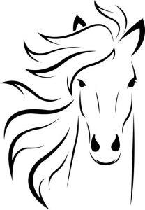 דף צביעה סוס מדהים