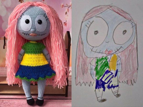 בובה מציור