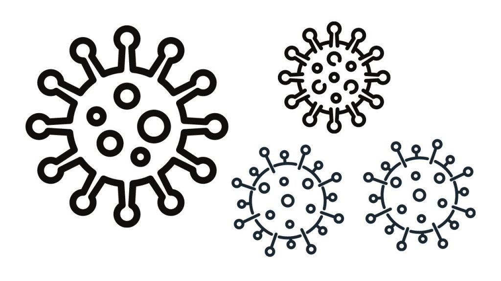 דף צביעה וירוסי קורונה