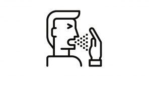 דף צביעה התעטשות לתוך היד