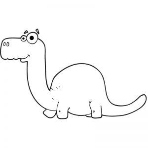דף צביעה דינוזאור 2