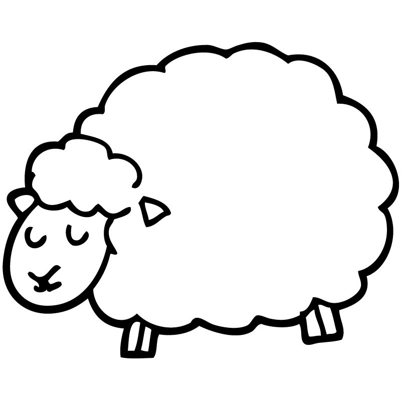 דף צביעה כבשה