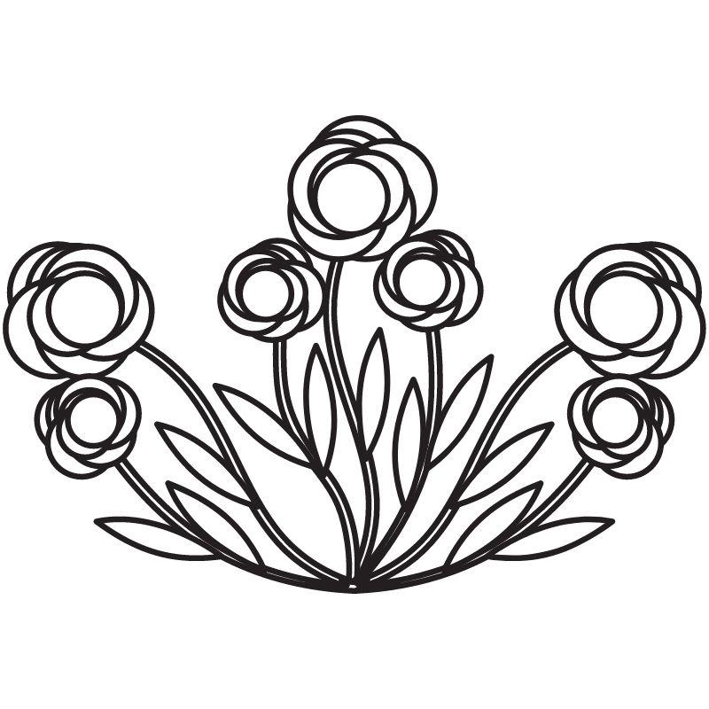 דף צביעה פרחים
