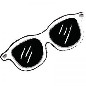 דף צביעה משקפי שמש 2