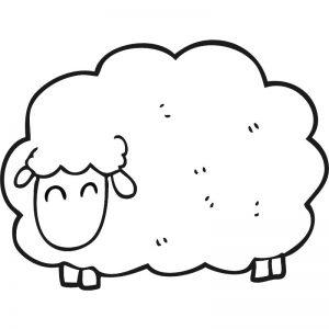 דף צביעה כבשה 2