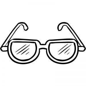 דף צביעה משקפי שמש