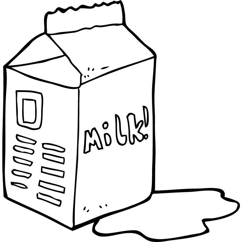 דף צביעה קרטון חלב