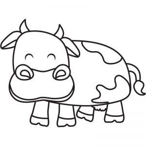 דף צביעה פרה