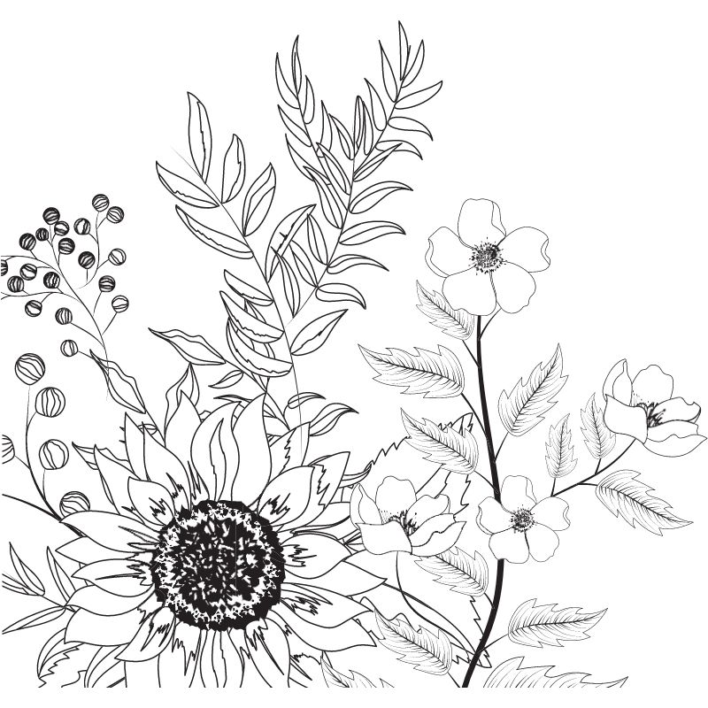 דף צביעה פריחת האביב