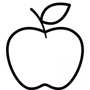 דף צביעה תפוח