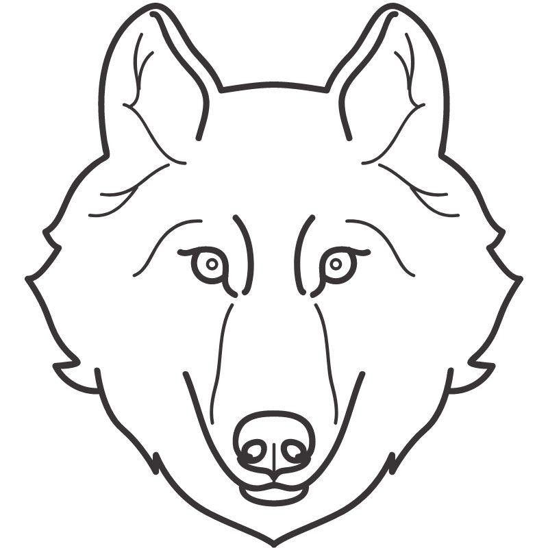 דף צביעה זאב