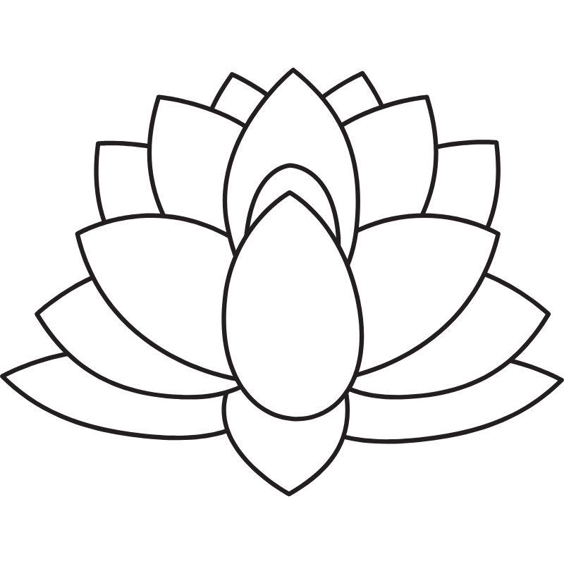 דף צביעה פרח פורח