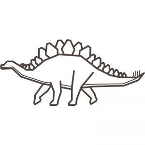 דף צביעה דינוזאור 8