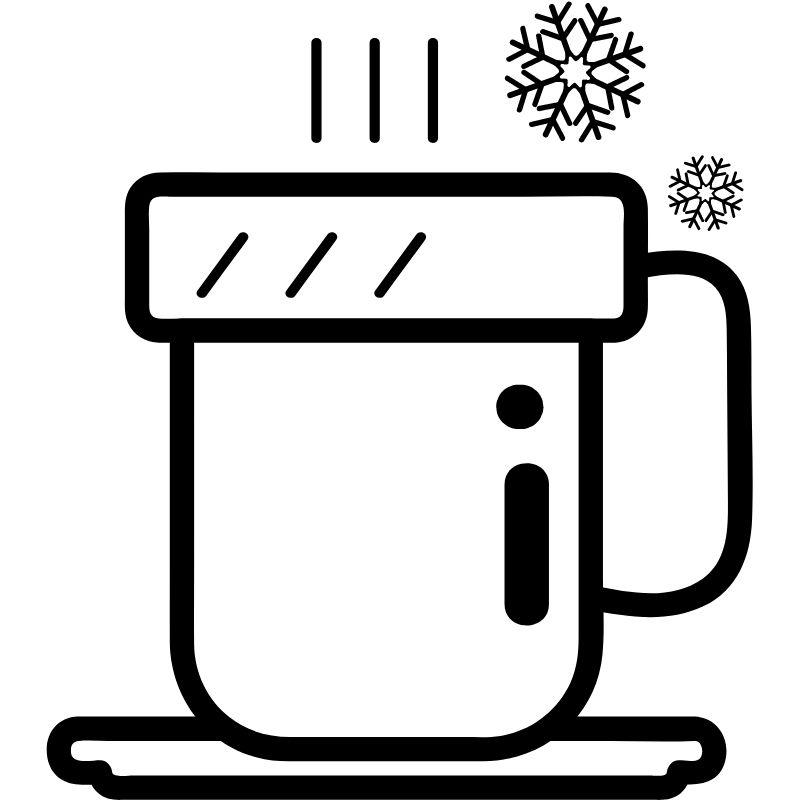 דף צביעה כוס משקה חם